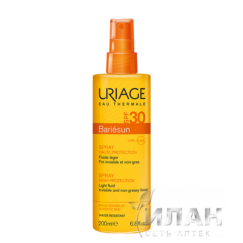 Урьяж Барьесан Спрей солнцезащитный SPF30 (Uriage Bariesun Spray SPF30)
